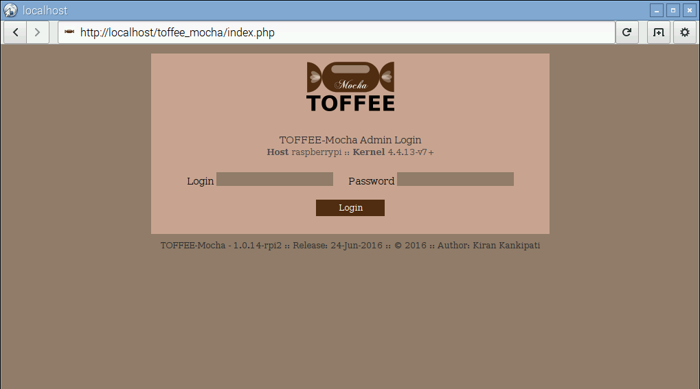 02 TOFFEE-Mocha WAN Emulator Raspberry Pi Login [CDN]