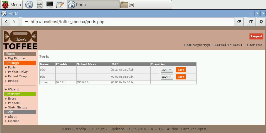 08 TOFFEE-Mocha WAN Emulator Raspberry Pi Ports [CDN]