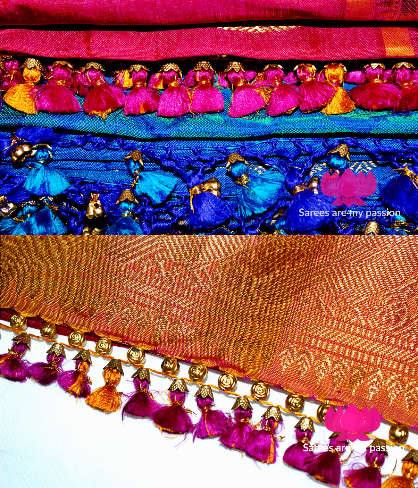 My First Saree Tassels - Sarees are my passion