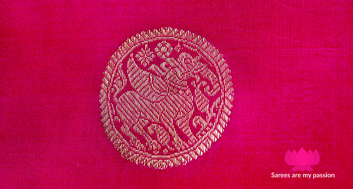 Yali Motif on Kanchipuram Silk Saree