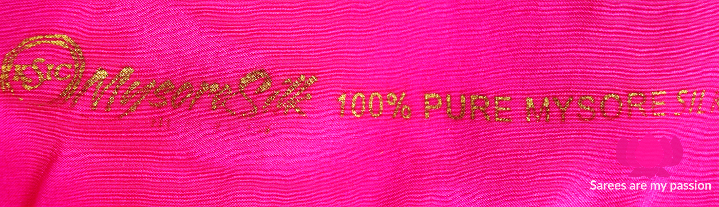 Mysore Silk - factory seal - Sarees are my passion