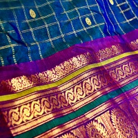 Gadwal Cotton and Silk Sarees (Kupadam or Kumbbam sarees)